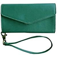ATV High Quality PU Leather Persian Green Pouch Case Flip Cover With Detachable Strap For Huawei Honor 4X