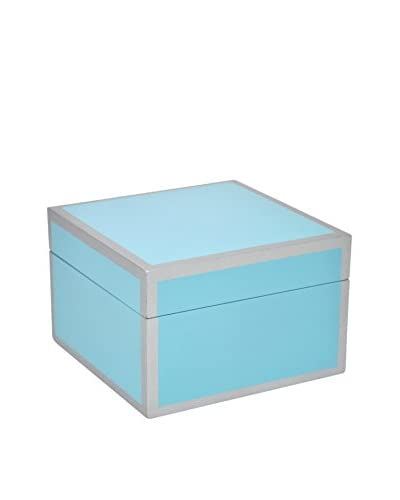 Three Hands Blue Wood Box