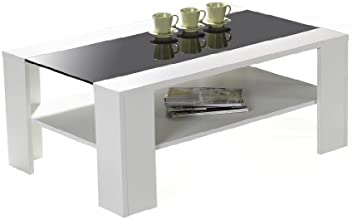 Presto Mobilia 11202 Borneo 08 Table Basse Blanc 110 x 70 x 44 cm
