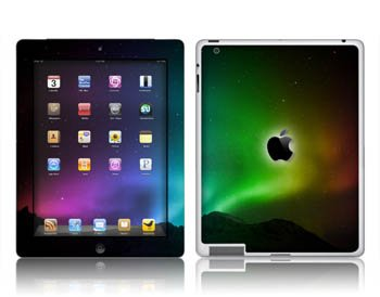 Apple- iPAD 2 -NORTHERN LIGHTS- Removable Decorative skin/vinyl Sticker. PLUS BONUS INSERTS!