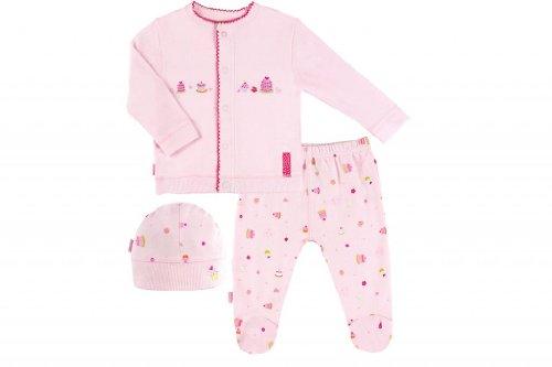 Kushies Organic Baby Girls' Cloud 9 Take Me Home Set Preemie Pink
