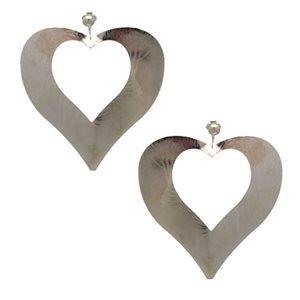 Idyll Silver Heart Clip On Earrings
