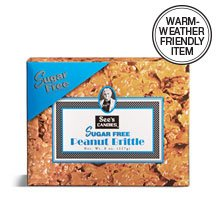 See's Candies 8 oz. Sugar Free Peanut Brittle