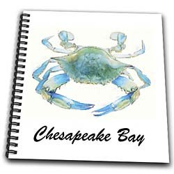 EvaDane - Quotes - Chesapeake Bay. Blue Crab. Maryland. - Drawing Book - Memory Book 12 x 12 inch