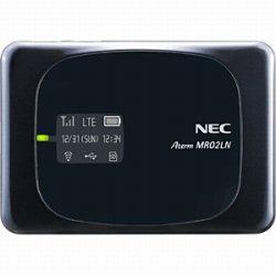 NEC LTEモバイルWiFiルーター AtermMR02LN PA-MR02LN8B (ブラック)
