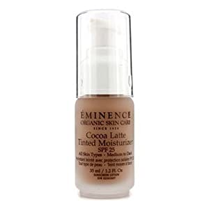 Eminence Organic Skincare Cocoa Latte Tinted Moisturizer SPF 25, for All Skin Types, 1.2 Fluid Ounce