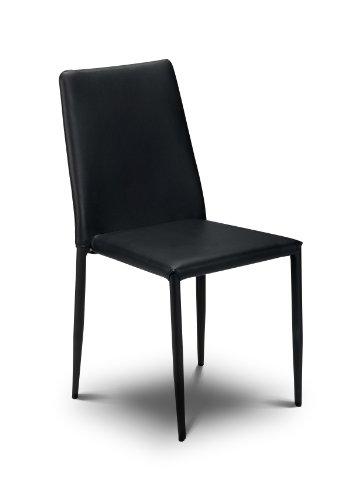 Julian Bowen Jazz Stacking Chair, Black (Set of 4 Chairs)