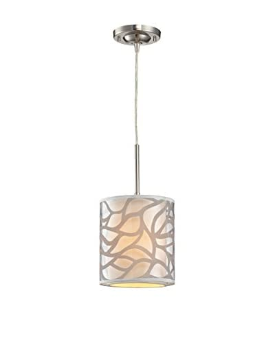Artistic Lighting Autumn Breeze Mini Pendant Light, Brushed Nickel