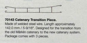 Marklin My World Catenary Transition Piece (3-Piece), 9/16-Inch