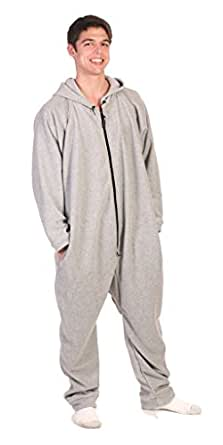 Forever Lazy Lightweight Adult Onesie - Asleep on the Job Gray - M