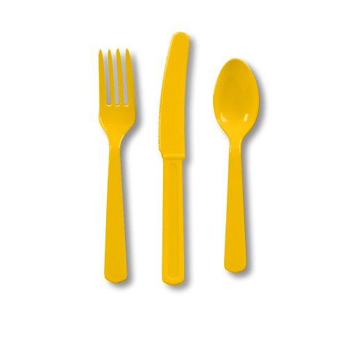 Heavy Duty Cutlery Assortment 24/Pkg-School Bus Yellow