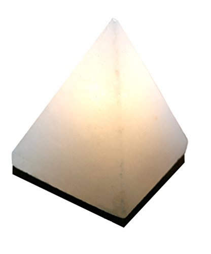 Beautifully-Finished-Pyramid-Salt-Lamp-from-Rare-Natural-White-Himalayan-Salt-on-Dark-Hardwood-Base-7-8-lb