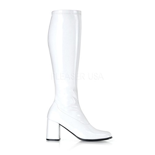 Stretched Knee High Sexy Boots Chunky Heel 3