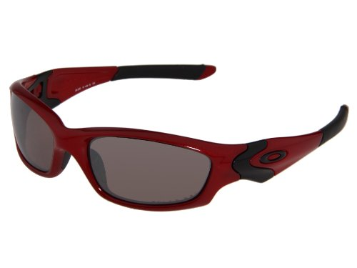 Oakley made Straight Jacket® sunglasses for those who understand that style is something you define yourself - it's not the world's idea of how you should look. If you need the world's opinion, Straight Jacket® isn't meant for you. The first design was created more than a decade ago, and it blended the art of Oakley with the science of precision optics. This latest edition combines aggressive styling with the best technologies ever to dominate light rays.&lt;/p&gt;&lt;br /&gt;&lt;br /&gt;<br /> &lt;p&gt;We optimized the lenses with a permanent coating called Oakley Hydrophobic® that maintains a smudge-resistant barrier against skin oils, sunscreens and lotions, even repels dust and dirt. That's in addition to repelling water and preventing wet sheens from corrupting your point of view. You also get the unbeatable clarity of High Definition Optics® (HDO®) including patented technologies like XYZ Optics® for crystal clear vision along the entire lens contour. The optics are so sharp, they exceed ANSI Z87.1 standards.&lt;/p&gt;&lt;br /&gt;&lt;br /&gt;<br /> &lt;p&gt;Protection meets ANSI Z87.1 standards for both high-velocity and high-mass impact, and the pure Plutonite® lenses filter out 100% of all UVA, UVB, UVC and harmful blue light up to 400nm. The durable, lightweight O Matter® frame utilizes soft Unobtainium® components to increase grip with perspiration. It's all part of a Three-Point Fit that holds the lenses in precise optical alignment and offers all-day comfort.&lt;/p&gt;&lt;br /&gt;&lt;br /&gt;<br /> &lt;p&gt;Straight Jacket® is available with a range of options including Iridium® lens coatings that balance light and reduce glare, lenses Activated By Transitions® to darken in response to light, and even the best polarized lenses on the planet. The frame can be fitted with Oakley prescription lenses.