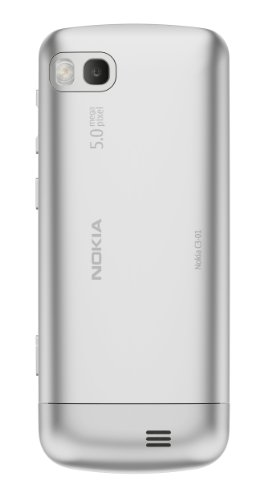 Nokia C3-01 Unlocked Touch and Type GSM Phone–U.S. Version with Warranty (Silver)