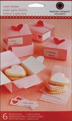 "Bulk Buy: Martha Stewart Treat Box 6/Pkg-Heart 3""X3 (3-Pack)"