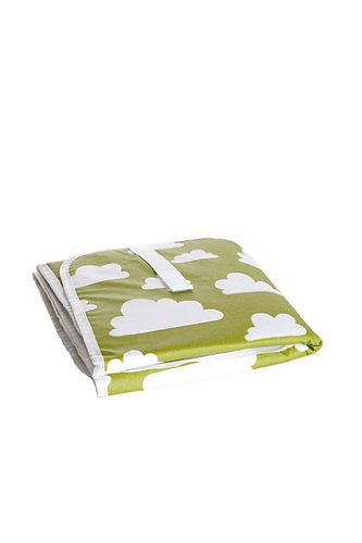 Farg Form Foldable Nursing Changing Mat with Cloud Print (Green)