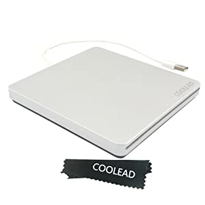 COOLEAD® High Speed External Slot in USB CD-RW DVD-RW Drive Player Writer Burner for Apple Mac Book Air Pro OS System 98SE ME 2000 XP Vista Win7 PC Laptop,Netbooks and desktop