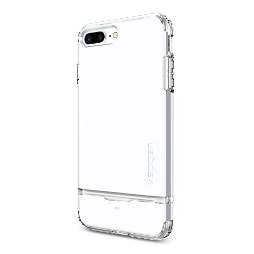 Spigen-Flip-Armor-iPhone-7-Plus-Case-with-Durable-Protection-and-Hidden-Card-Storage-for-iPhone-7-Plus-Jet-White