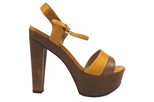 scarpe donna STUART WEITZMAN 40 EU sandali marrone / senape pelle AP252