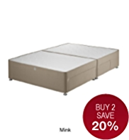 Classic Sprung Divan with 2 Small + 2 Large Drawers - 7 Day Delivery