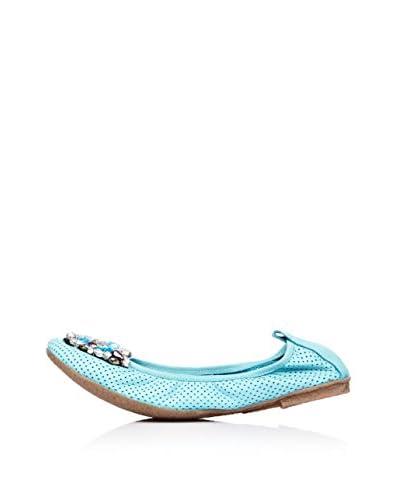 Bueno Shoes Bailarinas Abalorios Turquesa