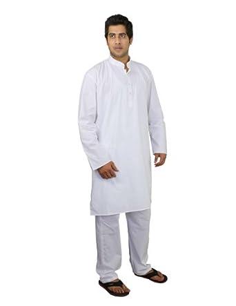 Hommes Kurta pyjama était l'habit Inde Yoga poitrine Poitrine 106 Cm