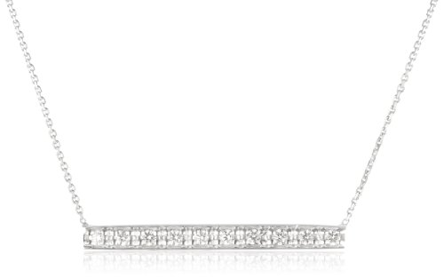 "Kc Designs ""Trinkets"" 14K White Gold Diamond Bar Necklace, 16"""