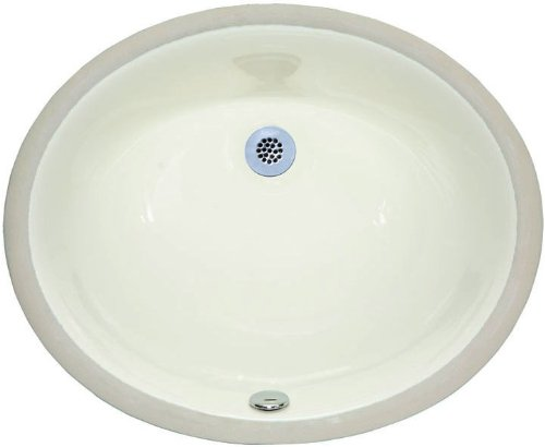 American Imaginations 539 20-Inch x 15-Inch CUPC Approved Oval Undermount Sink, Biscuit