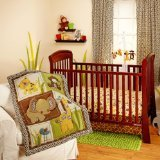 NoJo Little Bedding Jungle Dreams 3 Piece Crib Bedding Set