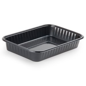 Bake N' Show 55357 8-1/2-Inch Length By 5-7/8-Inch Width By 1/2-Inch Height Black Color 28-Ounce Brownie Tray 125-Pack (Case Of 2)