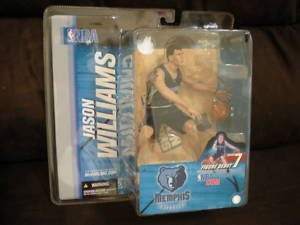 McFarlane Toys NBA Sports Picks Series 7 Action Figure Jason Williams (Memphis Grizzlies) Blue Jersey - 1