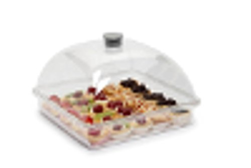 Vassoio in plastica con coperchio e vassoio di snack Bakery Cupcake da pranzo