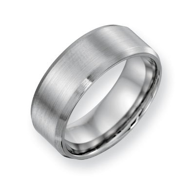 Cobalt Chromium Satin Polish 8mm Band Ring - Size 10.5 - JewelryWeb