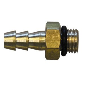 "Interstate Pneumatics Fms64T 3/8"" - 24 Unf Male X 1/4"" Hose Barb Connector front-513993"