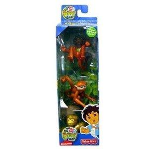 Go Diego Go! Safari Monkey Figure 3-Pack (Capuchin, Squirrel Monkey & Pygmy Marmoset)