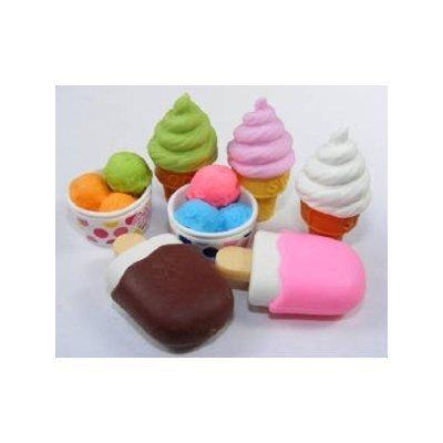 Iwako Japanese Eraser / Ice Cream 7Pcs. (Ice Cream Cone Erasers compare prices)