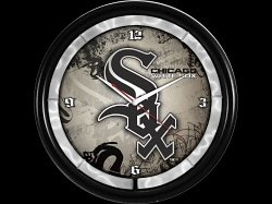 Chicago White Sox Plasma Clock by Authentic Street Signs