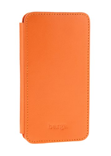 Best Price Barga Cases Genuine Leather Wallet Case for Iphone 5 / 5S , Soft - Orange