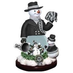 Buy Oakland Raiders Limited Edition Memory Company Snowman Cheer Snowglobe Christmas Figurine by Memory Company