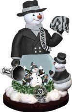 Oakland Raiders Limited Edition Memory Company Snowman Cheer Snowglobe Christmas... by Memory Company
