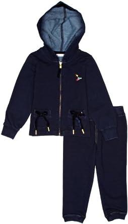 Billieblush - capsule sport - survêtement - fille - bleu (indigo blue) - 12 mois