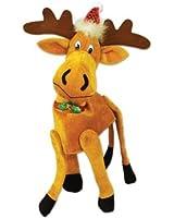 Beistle 20705 Plush Christmas Moose Hat