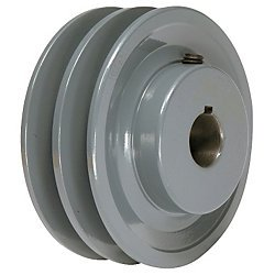 "3.05"" X 5/8"" Double Groove Ak Fixed Bore Pulley # 2Ak30X5/8"