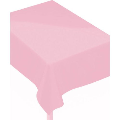 "Amscam Vinyl Table Cover, 52"" x 90"", Pink"