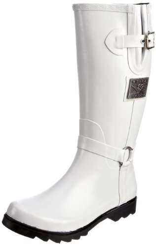 Replay Women's Anaise White Waterproof Boots GWR01.002.C0004R.061 4 UK