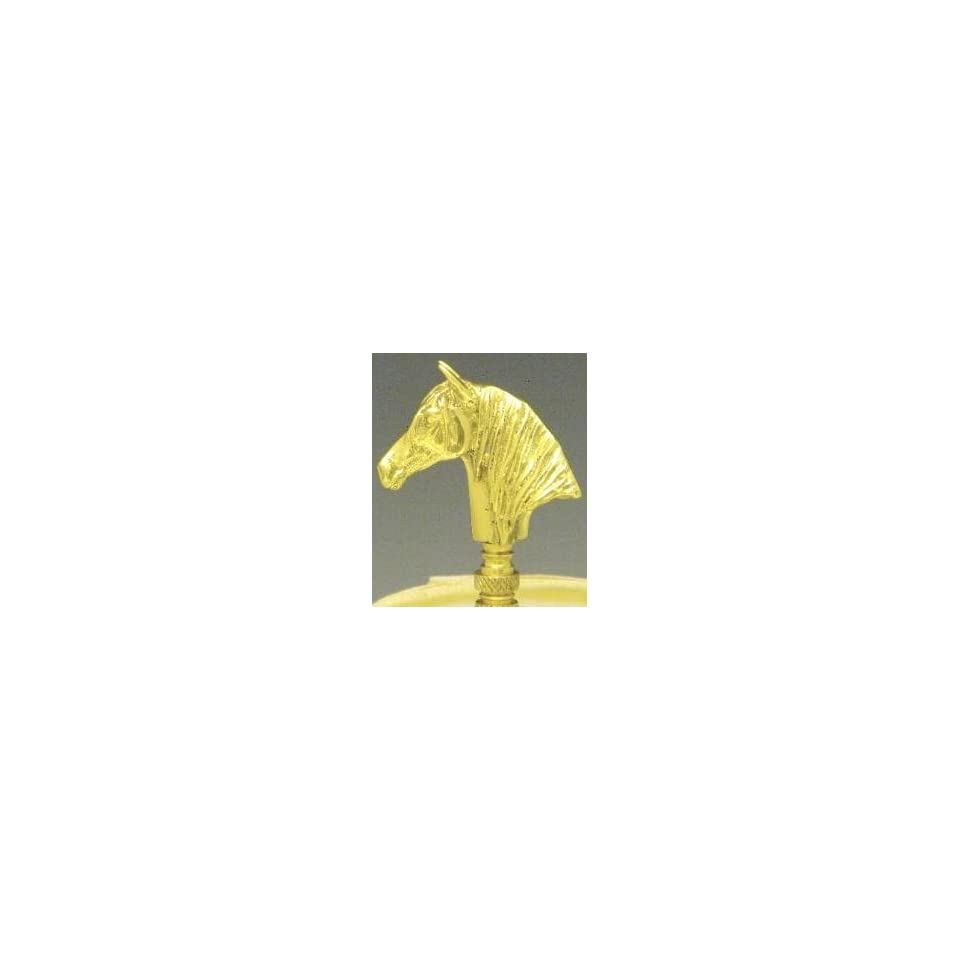 Mayer Mill Brass horse head lamp finial