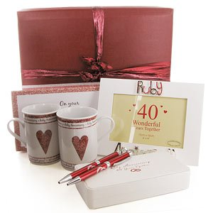 Wedding Gift Ideas Amazon : 40th Ruby Wedding Anniversary Gifts Pack: Amazon.co.uk: Toys & Games