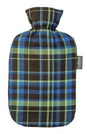 Fashy Hot Water Bottle with Tartan Cover (Green) (Hot Water Bottle English compare prices)