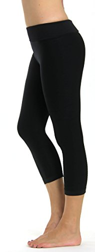 Prolific Health High Compression Women Pants Yoga Fitness Leggings (Small/Medium, Black Capri)